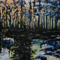 "Pond, 2009, 48""x48"" by Bailey Ferguson"
