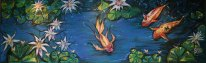 Koi Pond, 2009, chalk medium